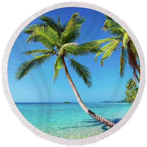 Tropical Escape Round Beach Towel-Round Beach Towel-Adult: 150 cm diameter-Australian Coastal Passion