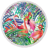 Flamingo Passion Round Beach Towel-Round Beach Towel-Adult: 150 cm diameter-Australian Coastal Passion