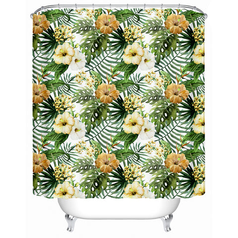 Hibiscus Tropics Shower Curtain