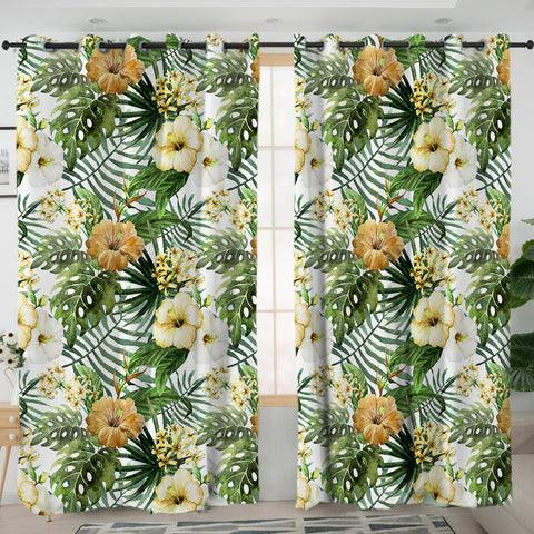 Hibiscus Tropics Curtains