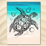 Coastal Beach Towel-Twist On The Beach Jumbo Beach Towel-Coastal Passion