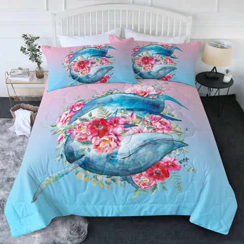 Queen of Whales New Quilt Set