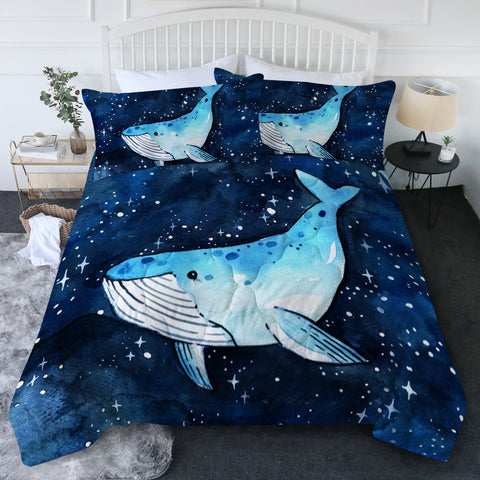 King of Whales New Quilt Set