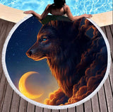Wild Spirit Round Beach Towel Collection-Round Beach Towel-Adult: 150 cm diameter-Wild Spirit 1-Australian Coastal Passion