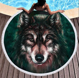 Wild Spirit Round Beach Towel Collection-Round Beach Towel-Adult: 150 cm diameter-Wild Spirit 10-Australian Coastal Passion