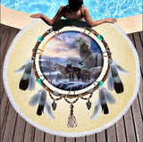 Wild Spirit Round Beach Towel Collection-Round Beach Towel-Adult: 150 cm diameter-Wild Spirit 3-Australian Coastal Passion