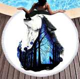 Wild Spirit Round Beach Towel Collection-Round Beach Towel-Adult: 150 cm diameter-Wild Spirit 12-Australian Coastal Passion