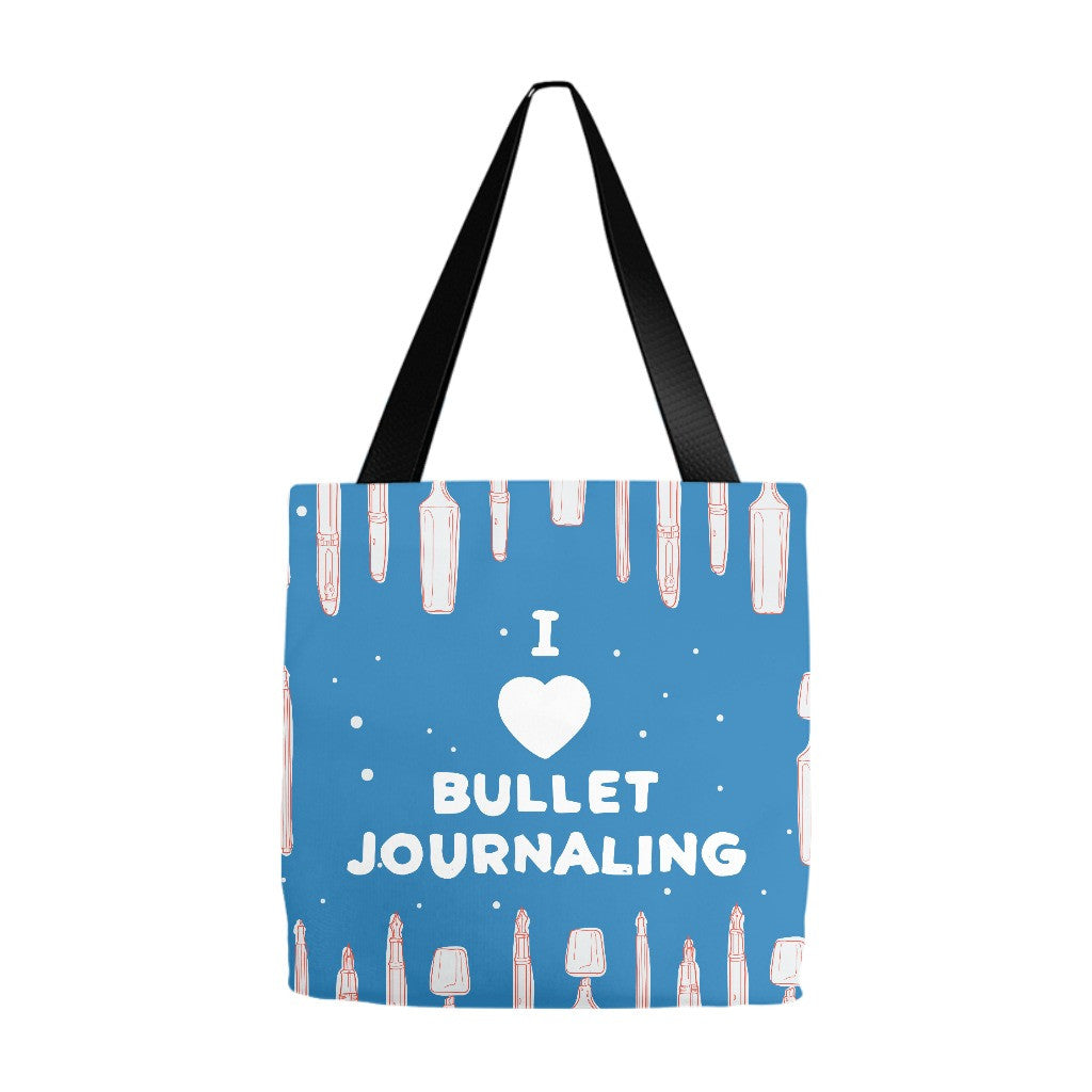 I Love Bullet Journaling Tote Bag - 3 Sizes