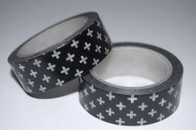 Washi Tape - Black with White Crosses