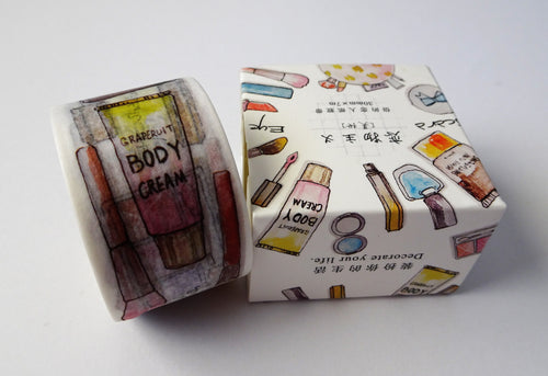 Wide Makeup Washi Tape - Ideal for Bullet Journaling