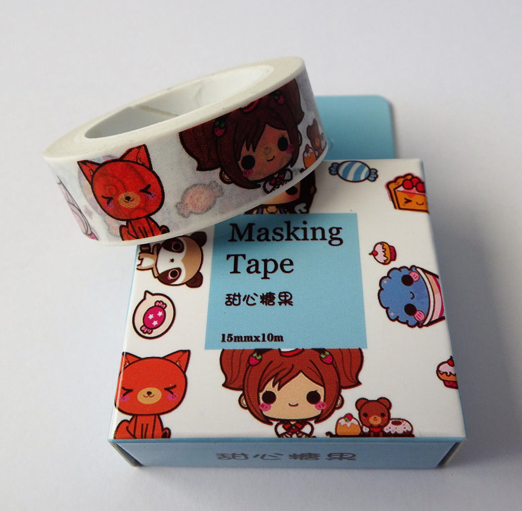 Cute, Cartoon Washi Tape - Add that pop of fun to your Bullet Journal
