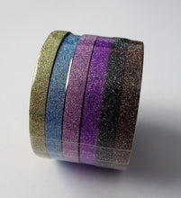 Glitter Metallic Thin Washi Tape - Pack of 6 - Ideal for your Bujo!