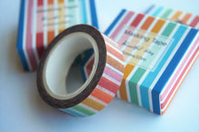 Bright multi coloured Striped Washi tape