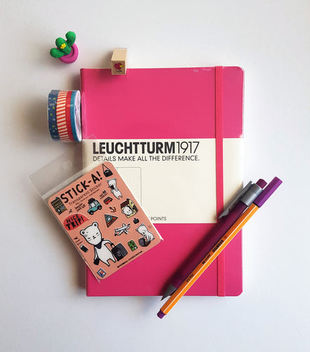 Leuchtturm1917 Dotted Notebook A5 Medium - Hot Pink