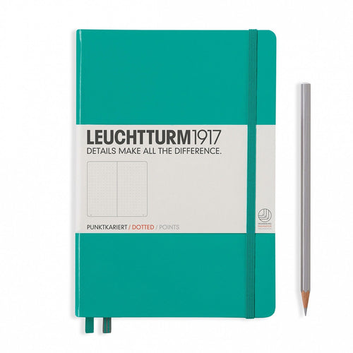 Leuchtturm 1917 Dotted Notebook A5 Medium - Emerald