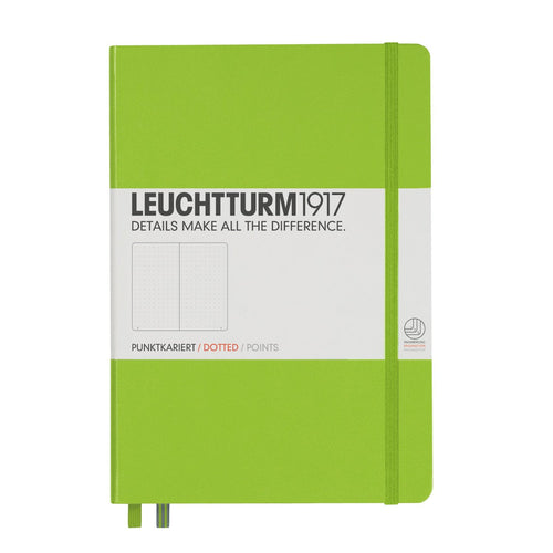 Leuchtturm 1917 Dotted Notebook A5 Medium - Lime