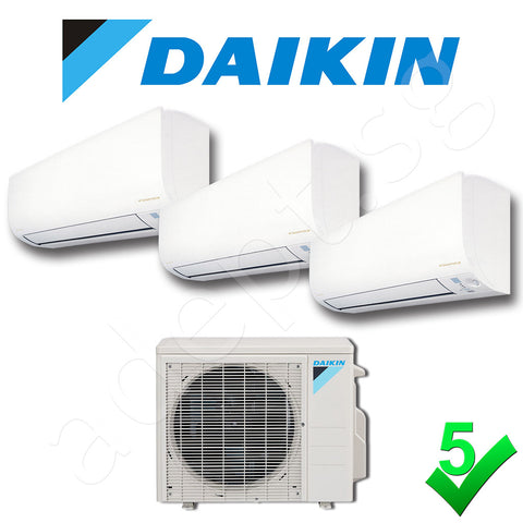 Daikin New Model 5 Ticks System 3 Inverter 9000 21200 btu MKS65QVMG CTKS25QVM Adept
