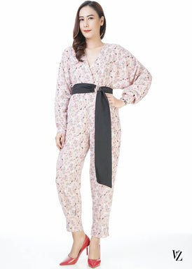 22026 Flower Mask Jumpsuit