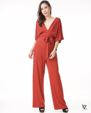 92457 V-neck Long Jumpsuit