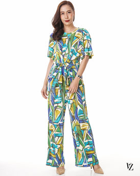 92463 Pleated Vintage Jumpsuit