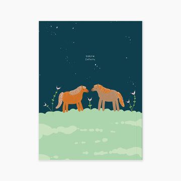 SOFT COVER A5 NOTEBOOK- INFININTY HORSES