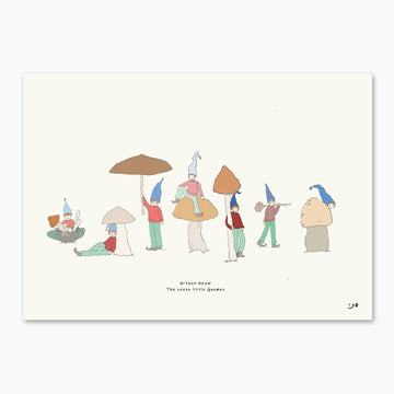 Art Print Illustration - The Seven Little Gnomes