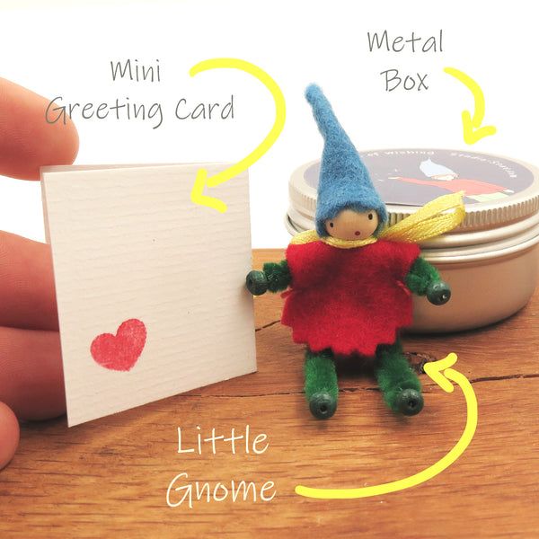 little handmade gnome of wishing for gift