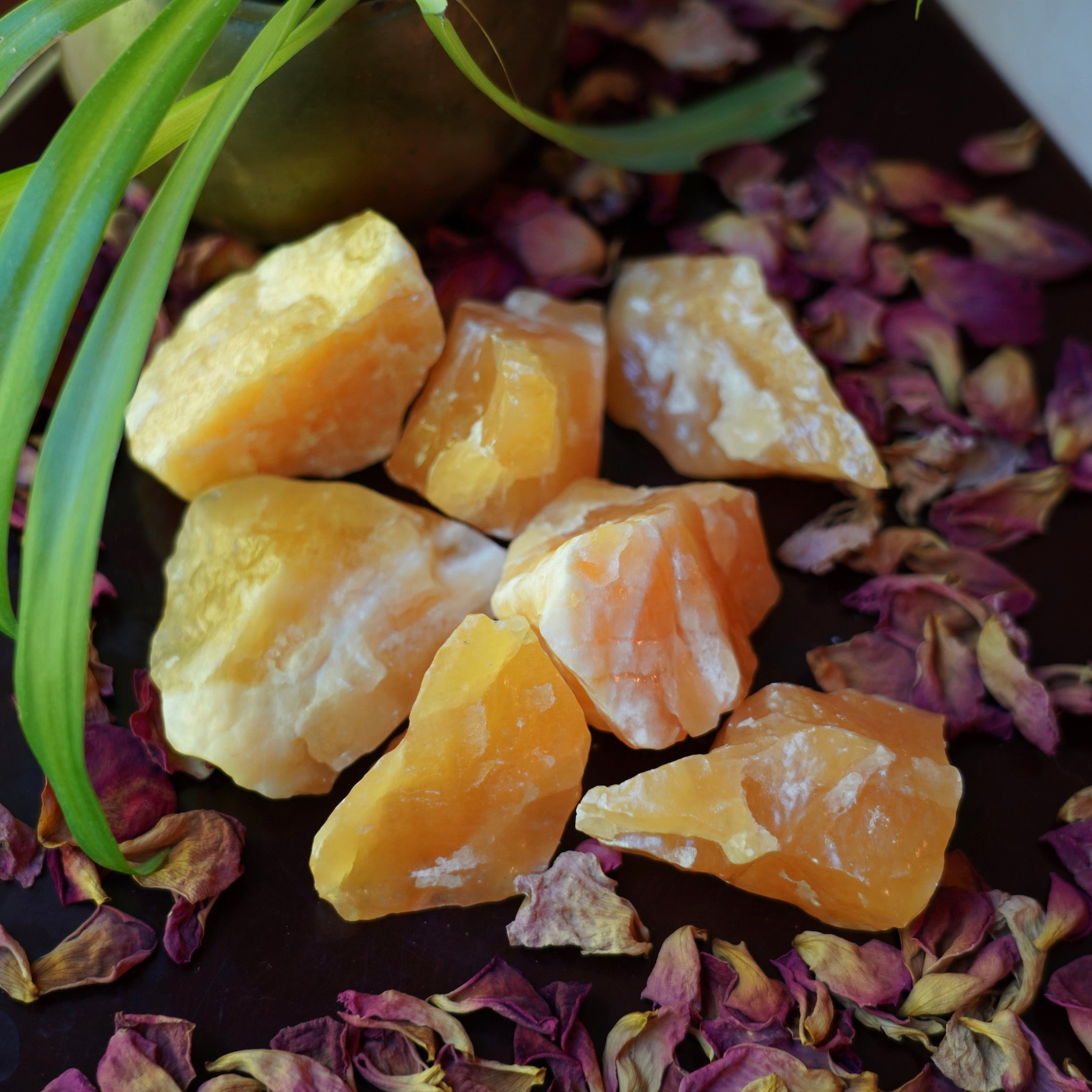 Orange Calcite of Spiritual Integration (Intuitively Selected)