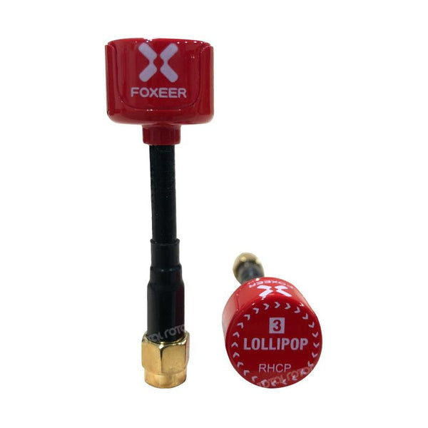 Foxeer Lollipop 3 2.5DBi 5.8G Super Mini Antenna, Extended SMA (2pcs) Total Rotor
