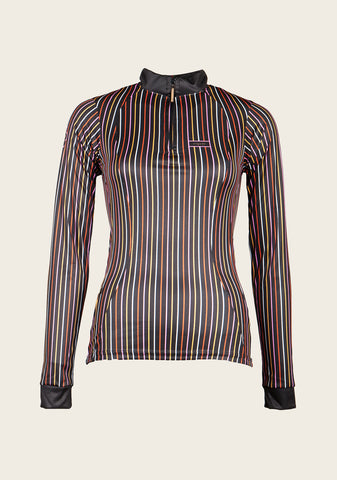 Espoir Black Striped Longsleeved Riding Shirt
