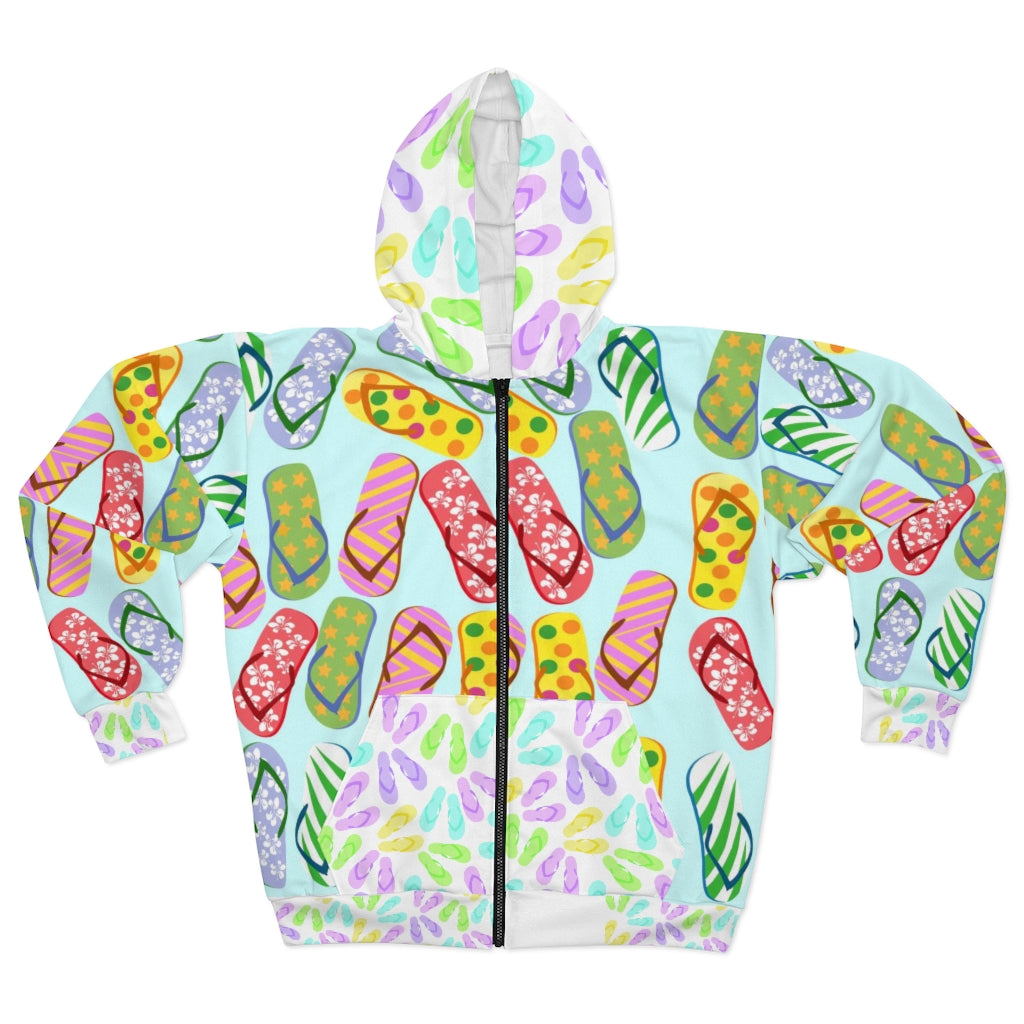 Flip Flops Galore Zip Up Hoodie