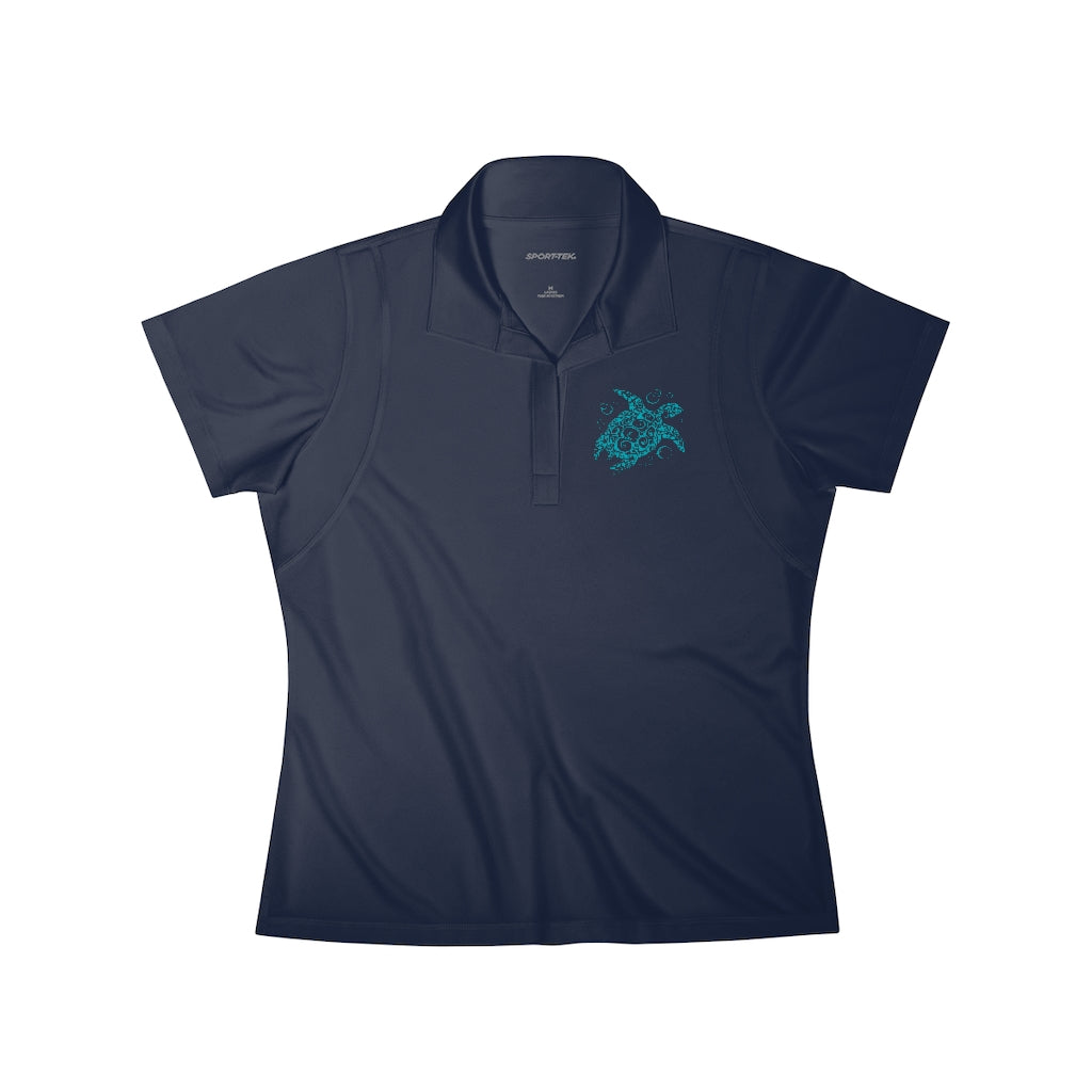 Turquoise Turtle Women's Polo Shirt