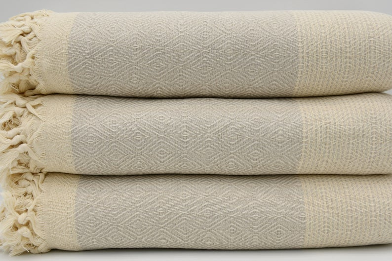 Beige Four Seasons Blanket-Coastal Passion