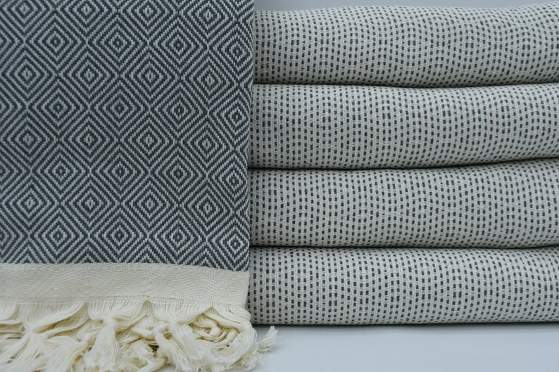 Gray Four Seasons Blanket-Coastal Passion