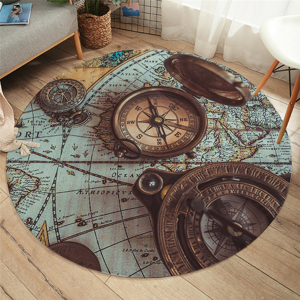 World Wanderer Round Area Rug