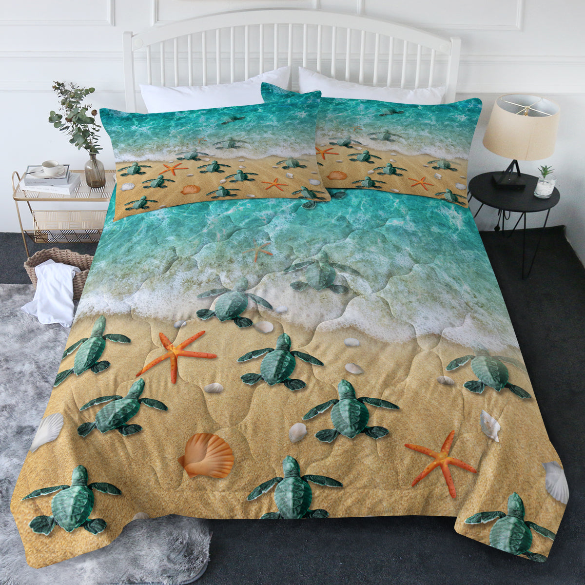 Happy Little Sea Turtles Comforter Set