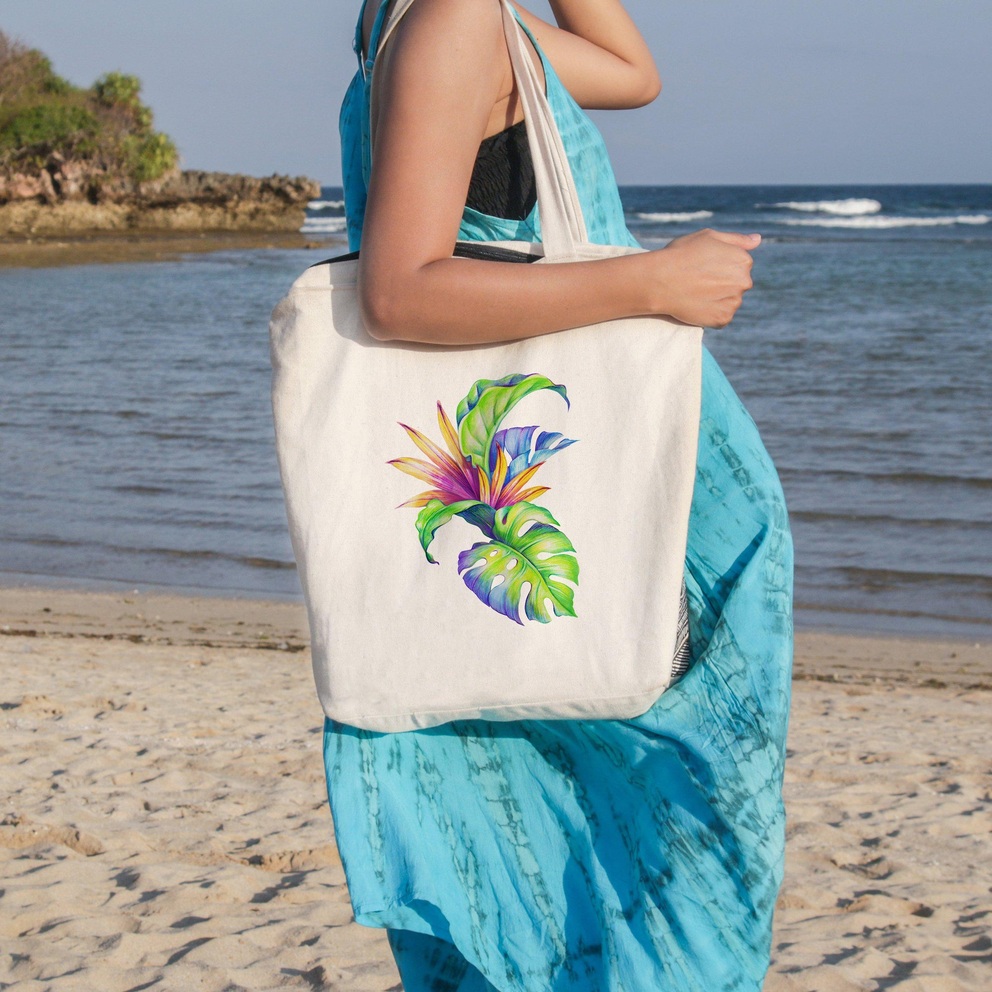 Love Tropical Beach Tote