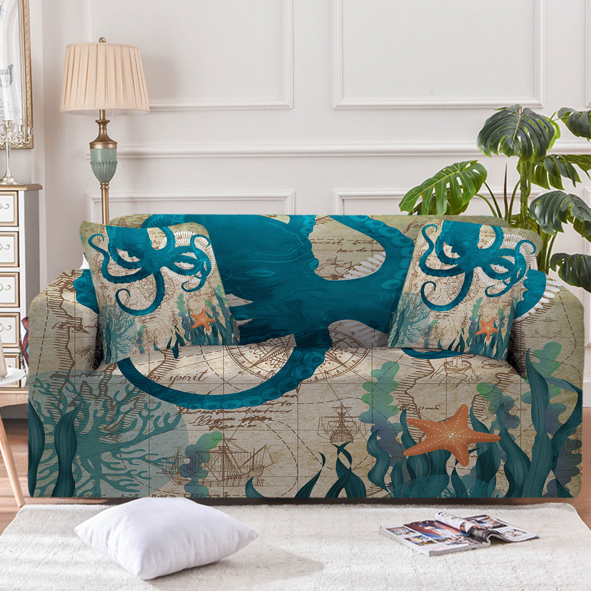 Octopus Love Couch Cover
