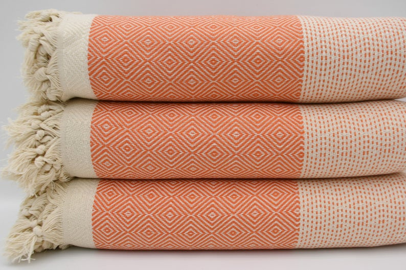 Orange Four Seasons Blanket-Coastal Passion
