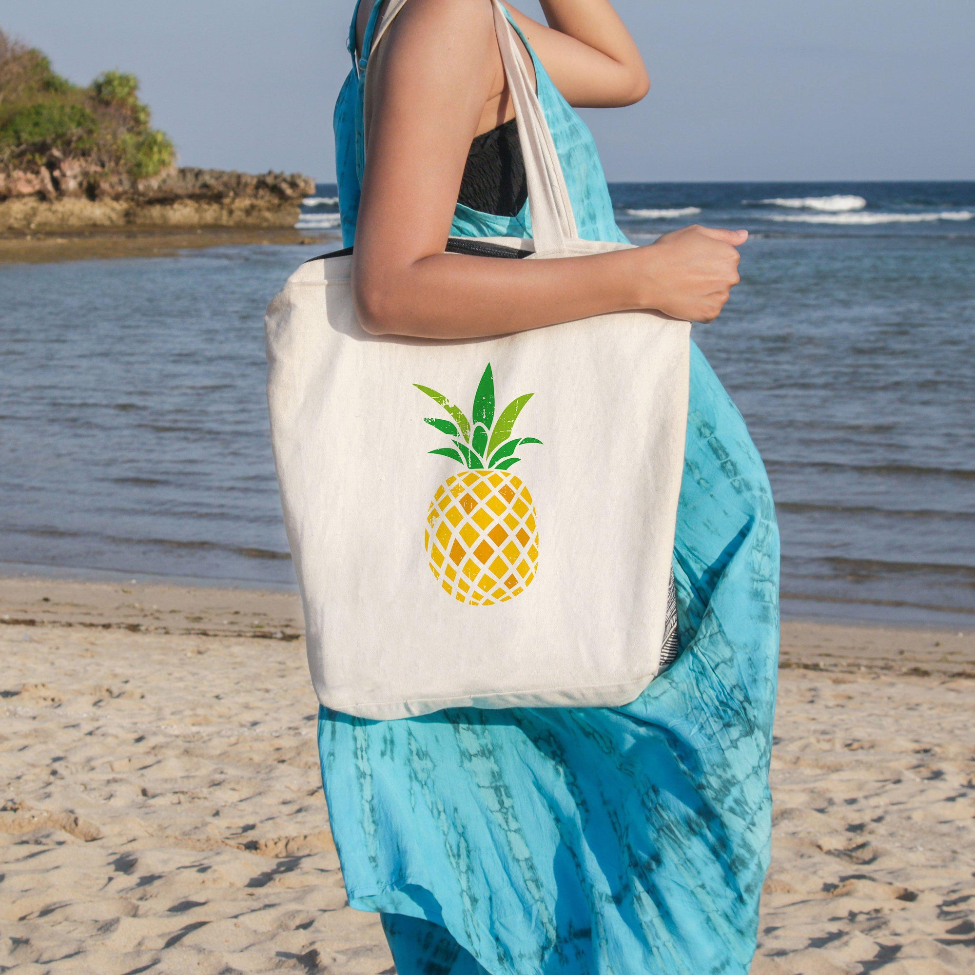 Pineapple Passion Beach Tote-Coastal Passion