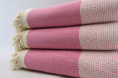 Pink Four Seasons Blanket-Coastal Passion