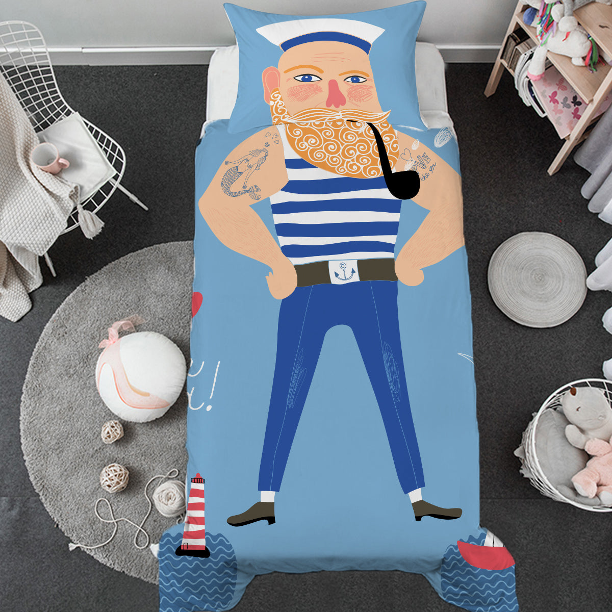 Sailorman Toddler Bed Set