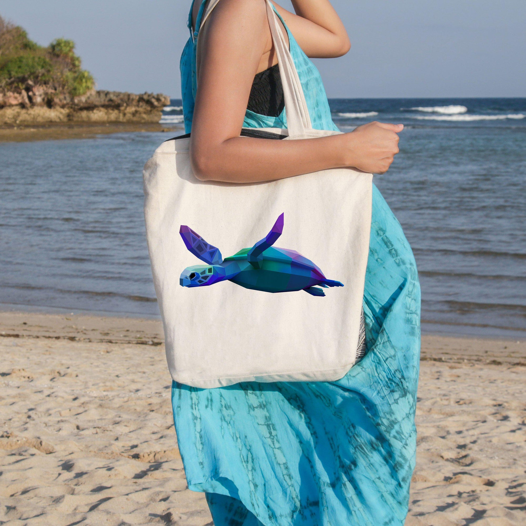 Sea Turtle Glide Beach Tote