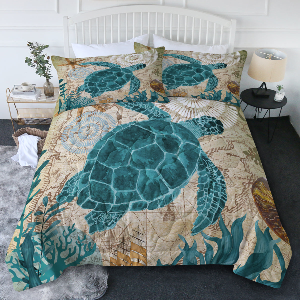 Sea Turtle Love Comforter Set