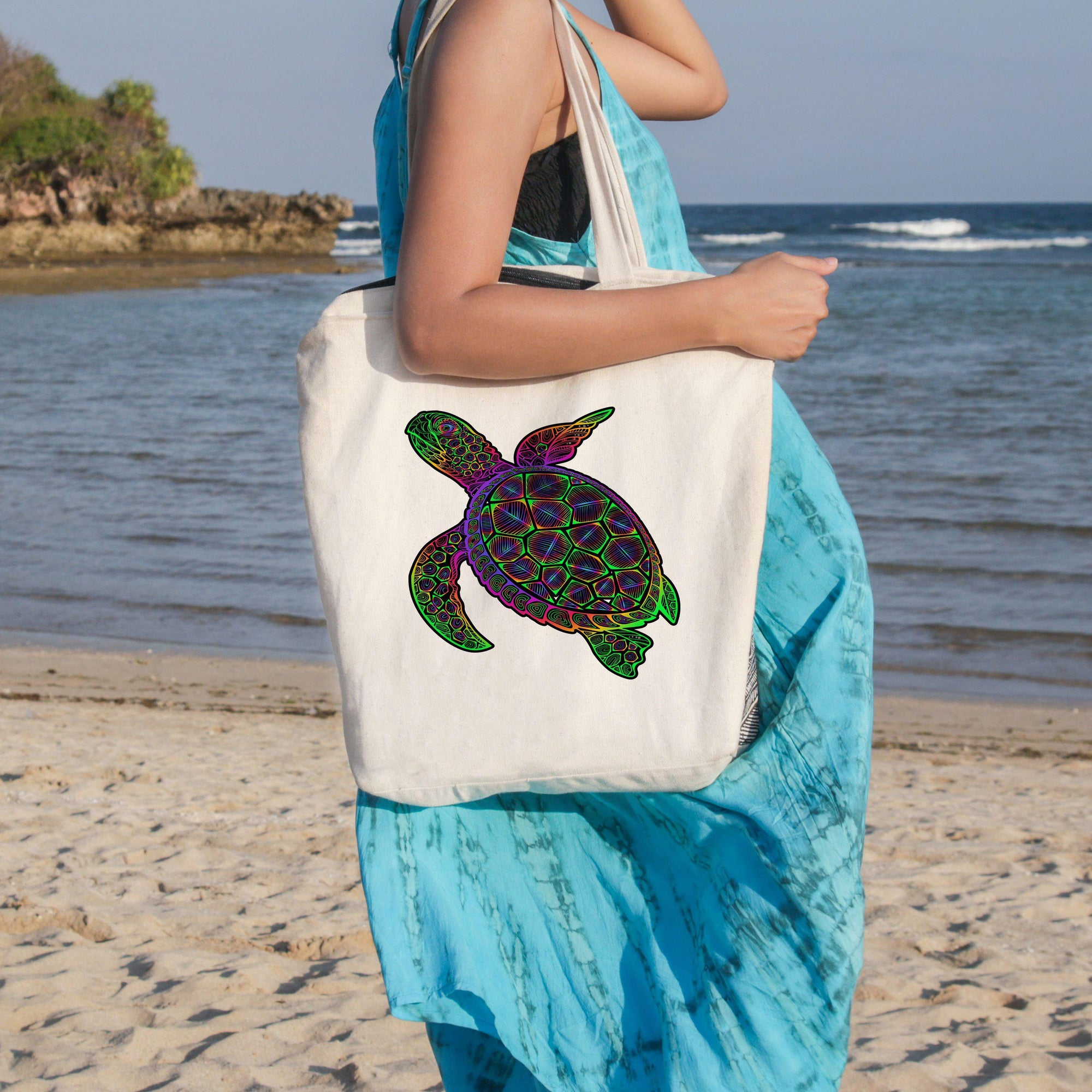 Sea Turtle Mystery Beach Tote