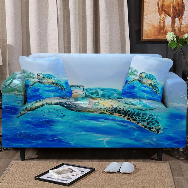 Sea Turtle Life Couch Cover