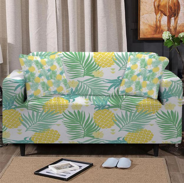 Pineapple Gold Couch Cover