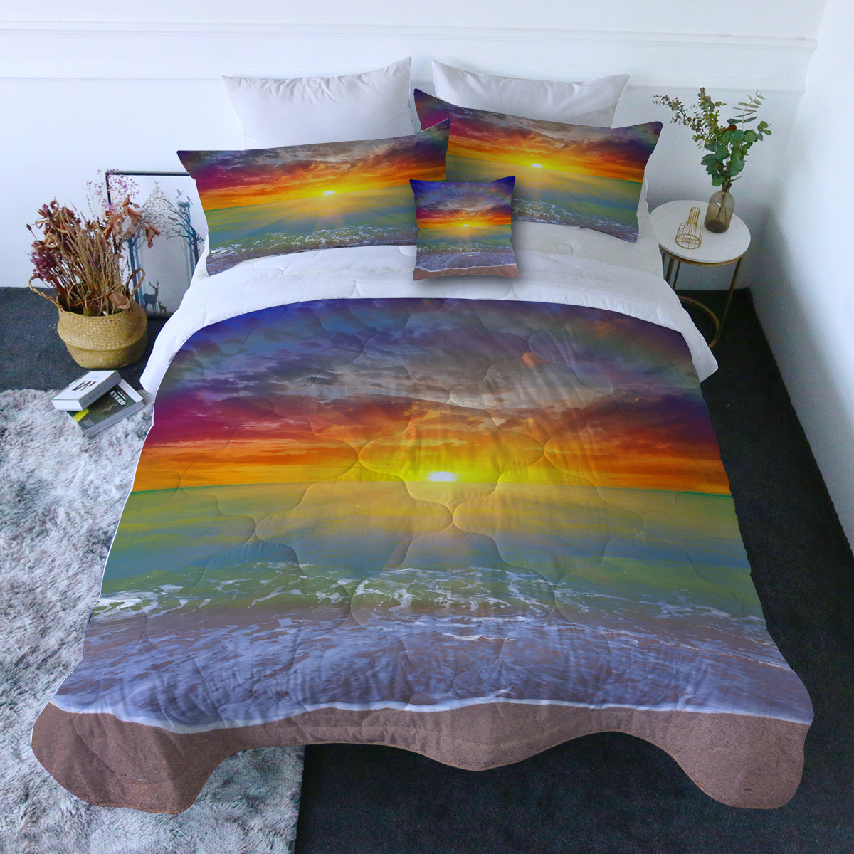 Sunset Beach Quilt Set