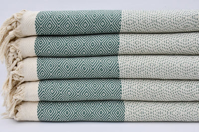 Teal Green Four Seasons Blanket-Coastal Passion