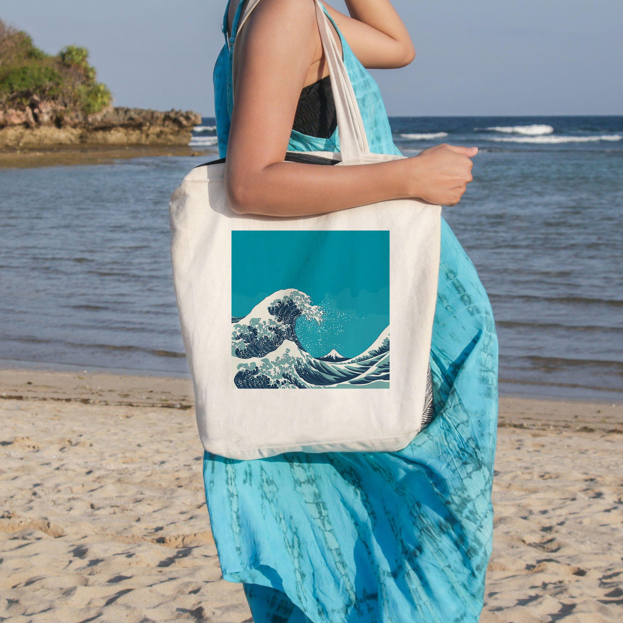 The Great Wave Beach Tote